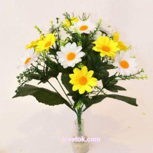 Ромашки желто-белые