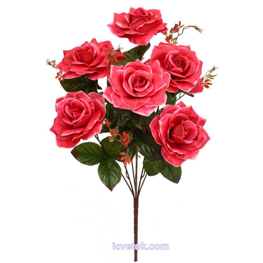 Роза большая атласная высокая