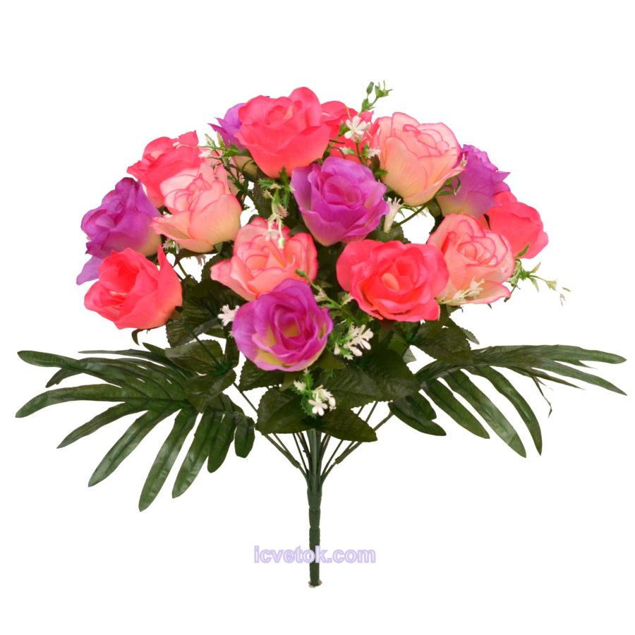 Роза-бутон трехцветный