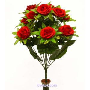 Роза бархатная с боковыми листьями