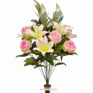 Микс розы с лилией