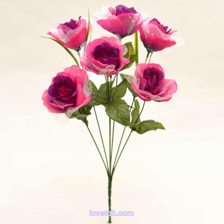 Роза с фатином