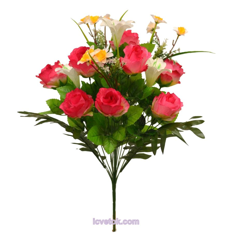 Роза с лилией и добавки нарциссы
