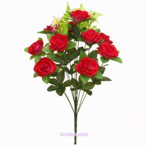 Роза круглая бархатная